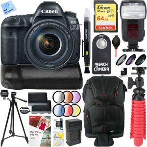 Canon EOS 5D Mark IV DSLR Camera + 24-105mm IS II USM Lens & Canon Battery Grip Kit