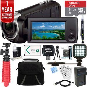 Sony HDR-CX405/B Full HD 60p Camcorder & 64GB MicroSD Accessory Bundle
