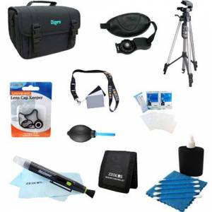 Special 10 Piece Accessory Kit for SLR Cameras w/ Full Size Tripod, Deluxe Case & More