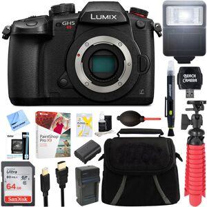 Panasonic LUMIX GH5S C4K Mirrorless ILC Camera Body w/Wi-Fi Bluetooth + 64GB Memory Bundle