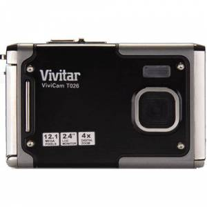 Vivitar ViviCam T026 12.1 MP Water Resistant Digital Camera in Graphite