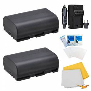 Special 2 Battery Pack Kit for Canon EOS 5D Mark II, 5D Mark III, 7D, 70D, 6D, and 60D