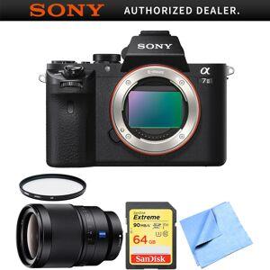 Sony Alpha 7II Mirrorless Interchangeable Lens Camera Body 35mm Prime Lens Bundle