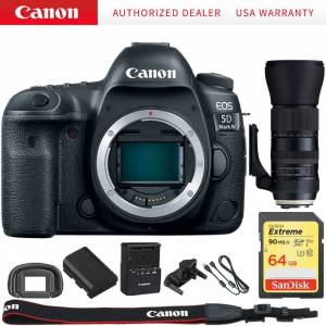 Canon EOS 5D Mark IV CMOS DSLR Camera + Tamron 150-600mm USD Zoom Lens Kit