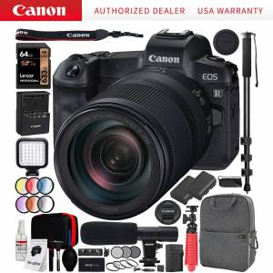 Canon EOS R Full-Frame Mirrorless Camera + RF 24-240mm F4-6.3 IS USM Lens Kit Bundle