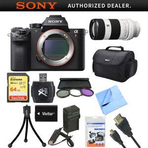 Sony a7R II Full-frame Mirrorless Interchangeable 42.4MP Camera 70-200mm Lens Bundle