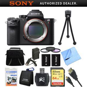 Sony a7R II Full-frame Mirrorless Interchangeable Lens 42.4MP Camera Body 64GB Bundle