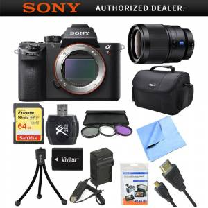 Sony a7R II Full-frame Mirrorless Interchangeable 42.4MP Camera with 35mm Lens Bundle