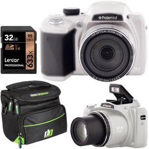 Polaroid IX5038 50x Zoom Instant Digital Camera 18MP HD Video 3 LCD Bundle