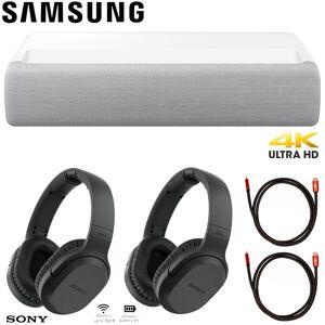 Samsung 130 The Premiere 4K Smart Triple Laser Projector w/ Sony Headphones Bundle