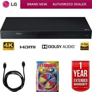 LG UBK80 4k Ultra-HD Blu-Ray Player w/ HDR Compatibility + Warranty Bundle