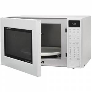 Sharp 1.5 Cu.Ft. 900W Carousel Countertop Microwave Oven in White - SMC1585BW