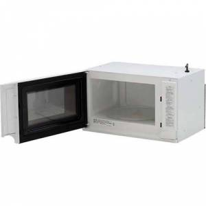 Sharp 1.5 Cu. Ft. 1100W Over the Counter Carousel Microwave in White - R1211T