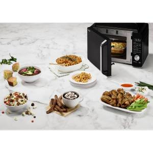 Cuisinart AMW-60 3-in-1 Microwave AirFryer Oven + 12-Pc White Knife Set