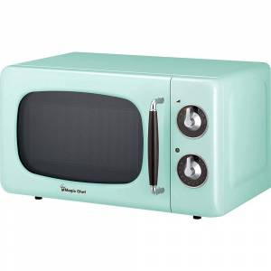 Magic Chef 0.7 Cu Ft 700 Watt Retro Countertop Microwave - MCD770CB (Mint Green)