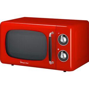 Magic Chef 0.7 Cu Ft 700 Watt Retro Countertop Microwave - MCD770CB (Red)