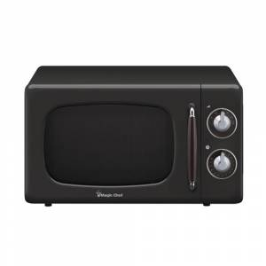 Magic Chef 0.7 Cu Ft 700 Watt Retro Countertop Microwave - MCD770CB (Black)