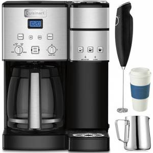 Cuisinart SS-15 12-Cup Coffee Maker and Single-Serve Brewer with Coffee Drinker Bundle