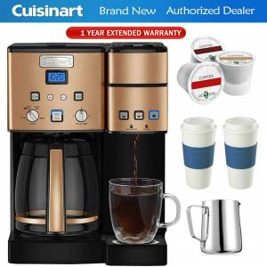 Cuisinart SS-15CP 12-Cup Coffee Maker and Single-Serve Brewer Copper + Warranty Bundle