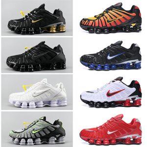 Nike men'snikeshox tl 1308 running shoes 2019 metallic silver vapormaxshock knit sliver sport sneakers classic fashion shoes