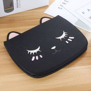 cute cat pu leather cover tablet stand for ipad 4 pro 11 10.5 mini 4 5 flip cartoon protective case bag