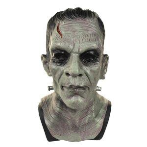 Monster Cable halloween Deluxe Frankenstein Monster full face Mask Latex Boris Karloff Halloween Horror Fancy Mask ZOMBIE MOVIE GAME COSPLAY