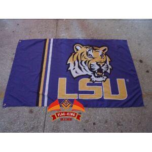 100%polyester 90*150cm,lsu logo educational institution flag,digital printing,louisana state college banner