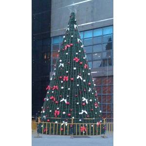 10 meters tower large framework christmas tree , pvc christmas tree with decoration