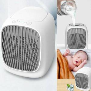 usb portable mini air conditioner cool home cooling air cooler fan humidifier office deskair cooler