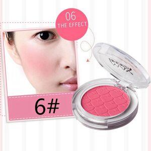 face blusher cheek makeup pressed mineral pigment blusher women beauty cosmetics facial contour shaping blush