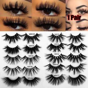 1 pair 27-30mm thick makeup lashes 3d mink hair false eyelashes long wispies fluffy multilayers eyelashes cruelty-extension
