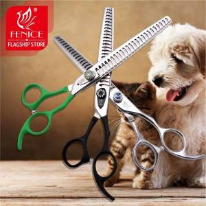 professional pet grooming scissors high class thinning shears toothed blade stainless steel 7.5 inch