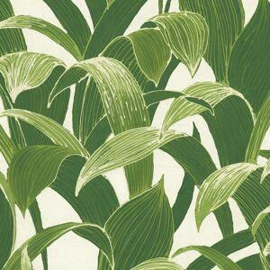 NextWall Peel & Stick Banana Groves Green & White Wallpaper  - green