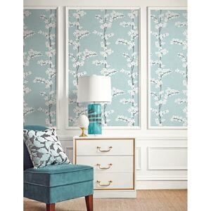 Seabrook Designs Appleton Sky Blue & White Wallpaper  - blue