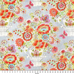 Dena Designs Blissful Bouquet Sherbert Fabric  - blue