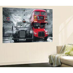 Art.com Wallpaper Mural: London Taxi and Bus Mural : 45x69in