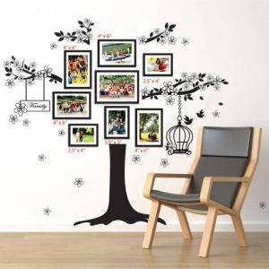 Art.com Wall Decal: Family Photo Tree : 42x35in
