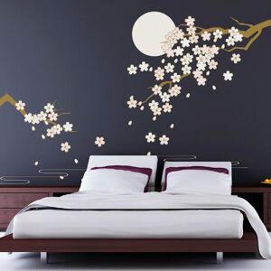 Art.com Wall Decal: Cherry Blossom Under Moonlight : 86x105in