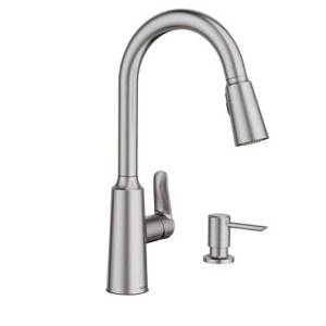 Moen Edwyn Spot Resist Stainless One-Handle Pulldown Kitchen Faucet  - Gray