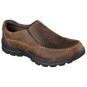 Skechers Men's  Relaxed Fit Braver-Rayland Shoes  - Brown - Size: 14