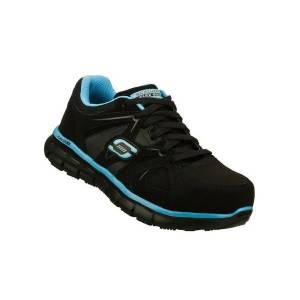 Skechers Women's Sandlot Alloy Toe Work Shoe  - Black - Size: 9.5