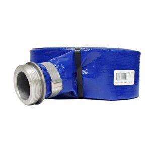 Apache 25' PVC Lay Flat Discharge Hose Coupled M x F Aluminum / Brass Short Shanks