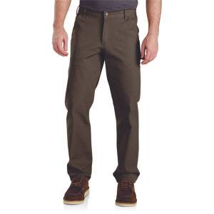 Carhartt Men's Rugged Flex Relaxed Fit Duck Dungaree  - Brown - Size: 38x30