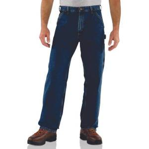 Carhartt Men's Loose Fit Work Jeans  - Blue - Size: 32x30