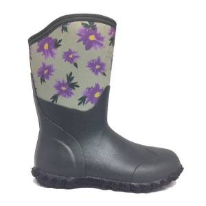 Bogs Women's Bison Winter Painted Boots  - Gray - Size: 9