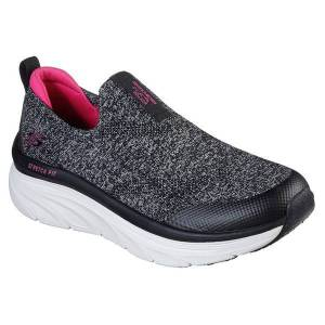 Skechers Women's D'Lux Walker Sneakers  - Black - Size: 6