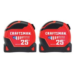 Craftsman 2-Pack 25' Pro Auto LockTape Measure