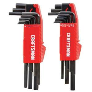 Craftsman 20 Piece L to T Hex Key Set