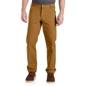 Carhartt Men's Rugged Flex Relaxed Fit Duck Dungaree  - Brown - Size: 31x34
