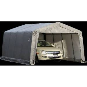 ShelterLogic 12'x16'x8' Gray Garage-in-a-Box